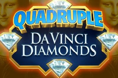 Quadruple Da Vinci Diamonds Mobile Slot Logo