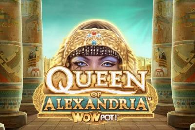 Queen of Alexandria WowPot Mobile Slot Logo