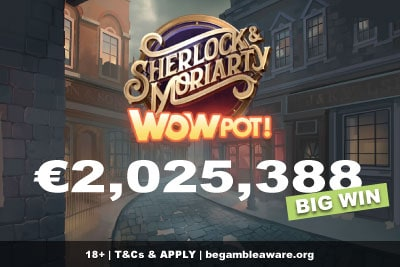 Sherlock & Moriarty Wowpot Slot Big Win