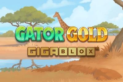 Gator Gold Gigablox Slot Logo