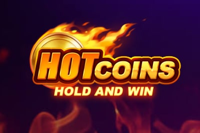 Hot Coins Hold and Win Slot Logo