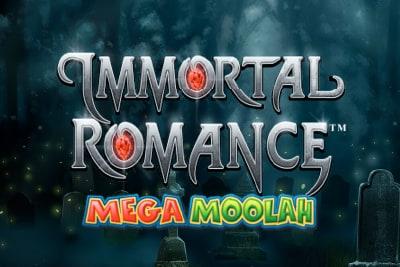 Immortal Romance Mega Moolah Slot Logo