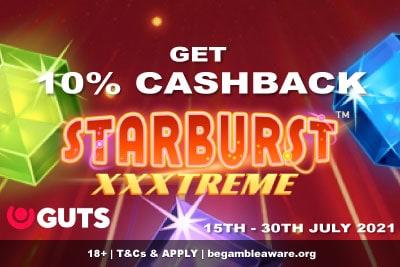 Get GUTS Casino Cashback on Starburst XXXtreme Slot