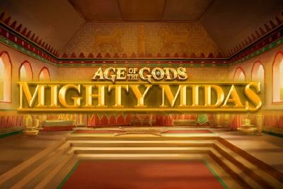 Age of the Gods Mighty Midas Slot Logo