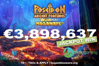 Ancient Fortunes Poseidon Wowpot Megaways Jackpot Win