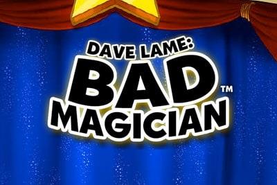 Dave Lame Bad Magician Slot Logo