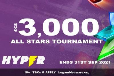 3,000 Hyper Casio Slot Tournament - All Stars