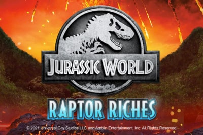 Jurassic World Raptor Riches Slot Logo