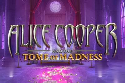 Alice Cooper Tome of Madness Slot Logo