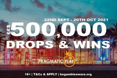 Pragmatic Play 500K Drops & Wins Slot Promo: October 2021